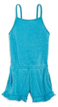Vintage Havana Girls' Burnout Fleece Romper - Big Kid