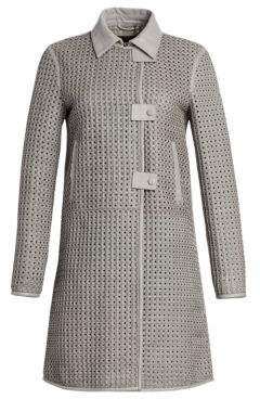 Emporio Armani Woven Lamb Leather Coat