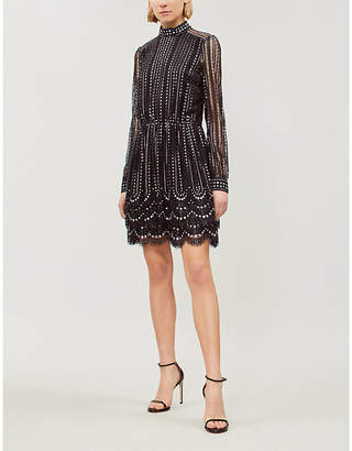 MICHAEL Michael Kors Embellished geometric-lace dress
