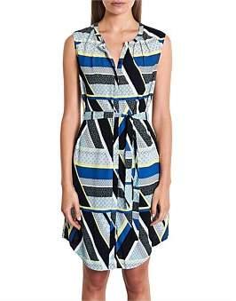 Marcs Women Geo Stripes Viscose Dress