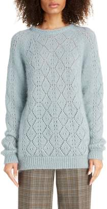 Marc Jacobs Pointelle Mohair & Silk Sweater
