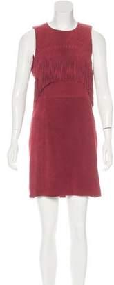 Rebecca Minkoff Fringe-Trimmed Suede Dress