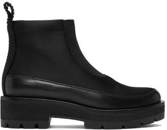 3.1 Phillip Lim Black Avril Lug Sole Boots