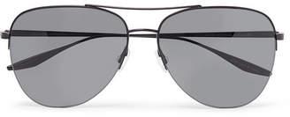 Barton Perreira Chevalier Aviator-Style Titanium Sunglasses - Men - Black