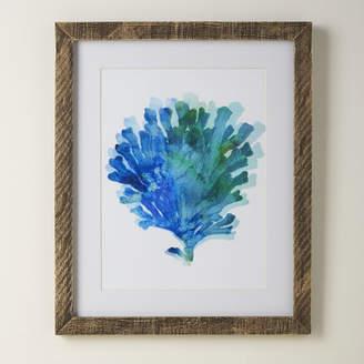Birch Lane Coral Tie-Dyed Framed Print
