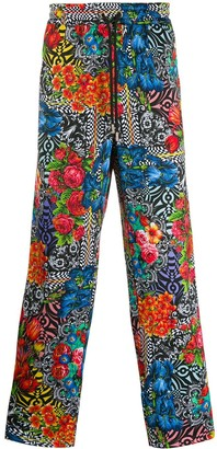 Versace floral-print trousers