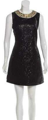 Barbara Bui Embellished Jacquard Dress