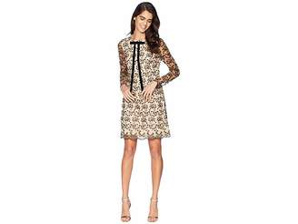 Betsey Johnson Lace Shift Neck Tie Dress Women's Dress
