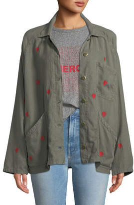The Great The Field Embroidered Heart Utility Jacket