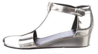 Celine Metallic Wedge Sandals
