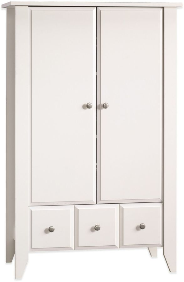 Child Craft Child CraftTM 2-Shelf Relaxed Traditional Armoire in White