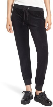 Women's Juicy Couture Gothic Crystals Embellished Velour Pants $98 thestylecure.com