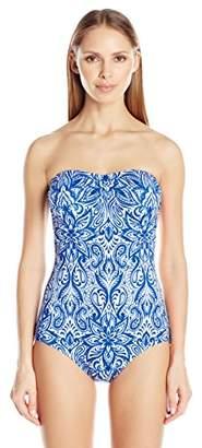 Jantzen Women's Batik Bandeau One Piece Swimsuit $92 thestylecure.com