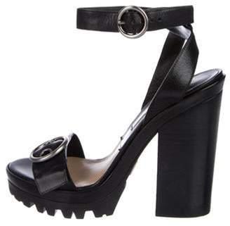Michael Kors Leather Buckle Sandals Black Leather Buckle Sandals