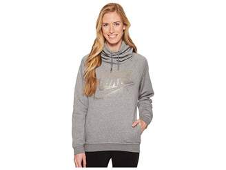 Nike Sportswear Rally Metallic Funnel-Neck Pullover Hoodie Women's Sweatshirt