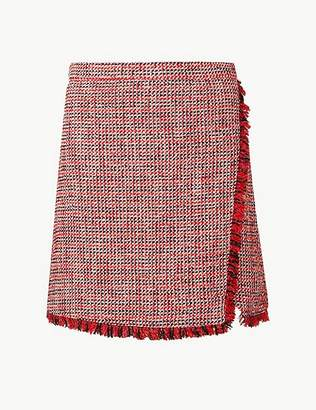 Marks and Spencer Textured Wrap Mini Skirt