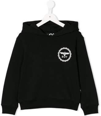 Boy London Kids eagle print hoodie