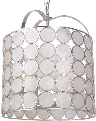Crystorama Coco 6-Light Lantern - Antiqued Silver