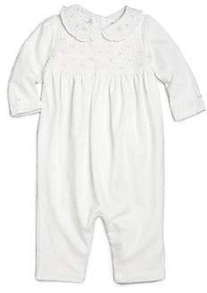 Ralph Lauren Baby Girl's Smocked Cotton Coverall