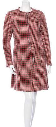 Hache Raw-Edged Houndstooth Coat