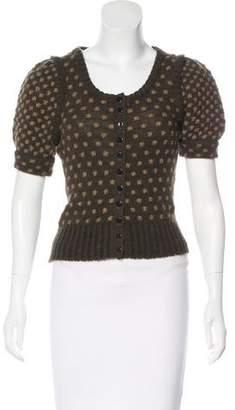 Balenciaga Wool Short Sleeve Cardigan