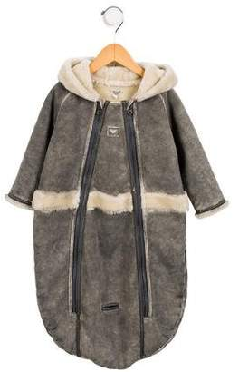 Armani Junior Girls' Faux Fur Oversize All-In-One