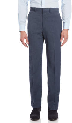 Kenneth Cole Blue Neat Slim Suit Pants