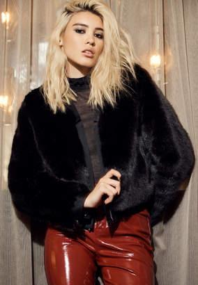 Ashbey Faux Fur Jacket In Black