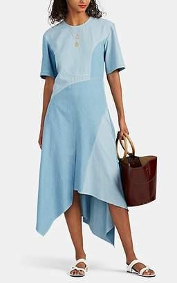 100600a8a0 Colovos Women's Cotton Chambray Shirtdress - Blue