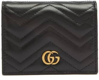 449d9139a8e9de Gucci Gg Marmont Quilted Leather Wallet - Womens - Black