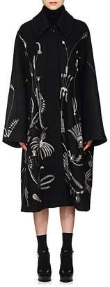 Dries Van Noten Women's Floral Felted Wool-Blend Coat