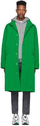 Opening Ceremony Green Nylon Logo Trench Coat