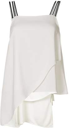 Symetria asymmetric sleeveless top