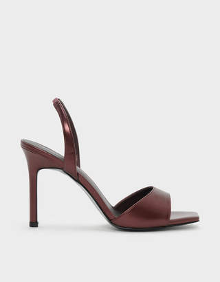 Charles & Keith Square Toe Slingback Stiletto