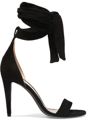 Off-White - Bow Suede Sandals - Black $925 thestylecure.com