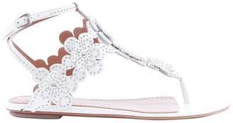 Alaia Studded Flower Embellished Sandals