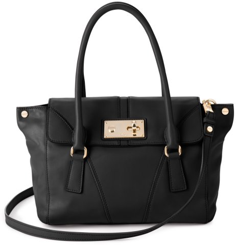 Mina Nappa Leather Satchel