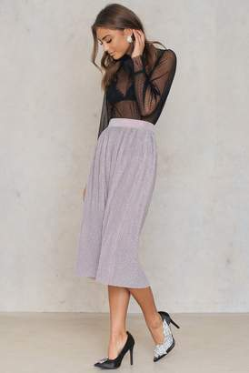 Na Kd Party Pleated Glittery Skirt