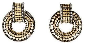John Hardy Dot Large Door Knocker Clip-on Earrings