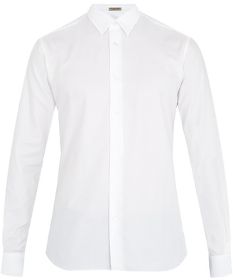 Bottega Veneta Single-cuff cotton-oxford shirt