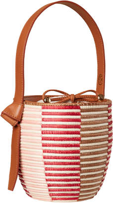 Cesta Collective Lunchpail Leather-Trimmed Woven Sisal Bag