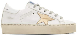 Golden Goose White Hi Star Sneakers