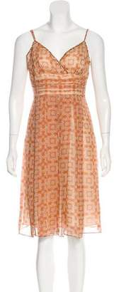 Nicole Miller Printed Silk Dress