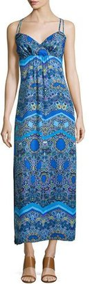 Laundry By Shelli Segal Sleeveless Printed Maxi Dress, Blue Beret/Multi $225 thestylecure.com