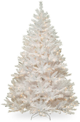 clear National Tree Company 7Ft Winchester White Silver Glitter Pine Tree With Lights