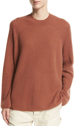 Vince Cashmere High Crew Pullover $345 thestylecure.com