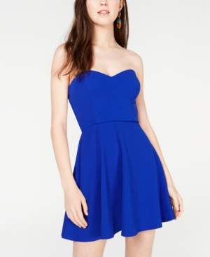 B. Darlin Juniors' Cutout Strapless Fit & Flare Dress, Created for Macy's