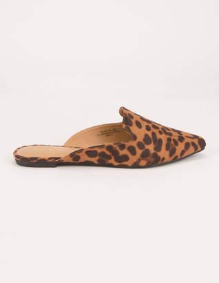 Bamboo Blog Leopard Womens Mules