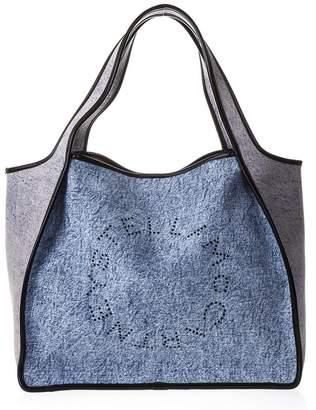 Stella McCartney Shopper Stella In Denim With Logo