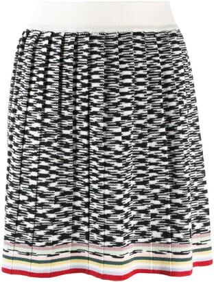 Missoni two-tone design skirt